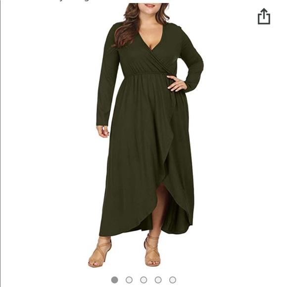 Plus size long sleeve maxi dress NWT
